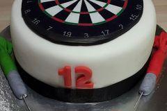 Dartboard-cake